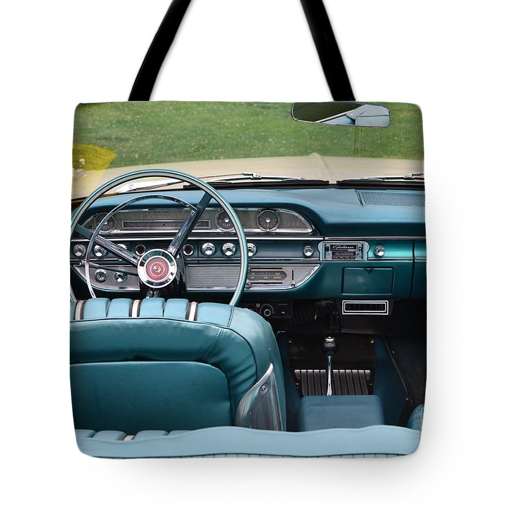 Turquoise Tote Bag featuring the photograph Ford Detail by Dean Ferreira