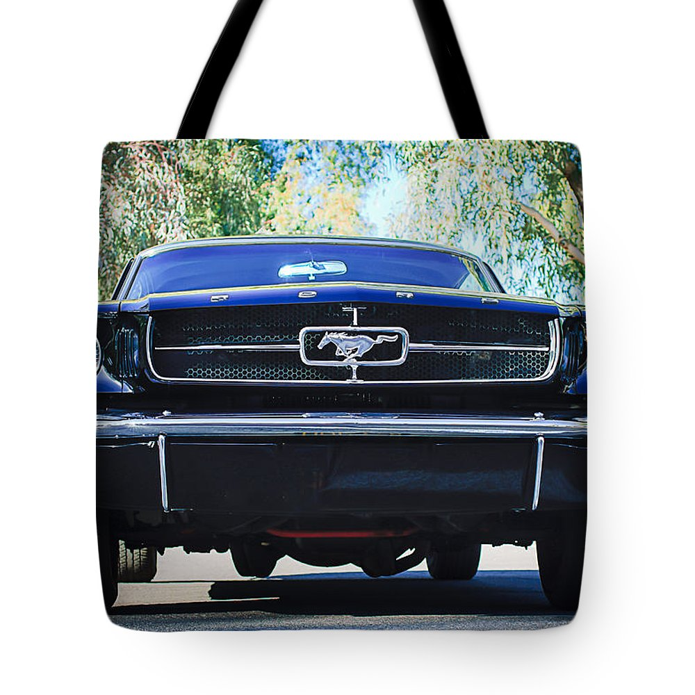 1965 Shelby Prototype Ford Mustang Tote Bag featuring the photograph 1965 Shelby Prototype Ford Mustang by Jill Reger