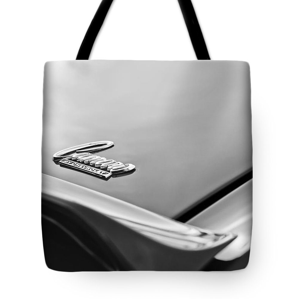 1969 Chevrolet Camaro Emblem Tote Bag featuring the photograph 1969 Chevrolet Camaro Emblem by Jill Reger