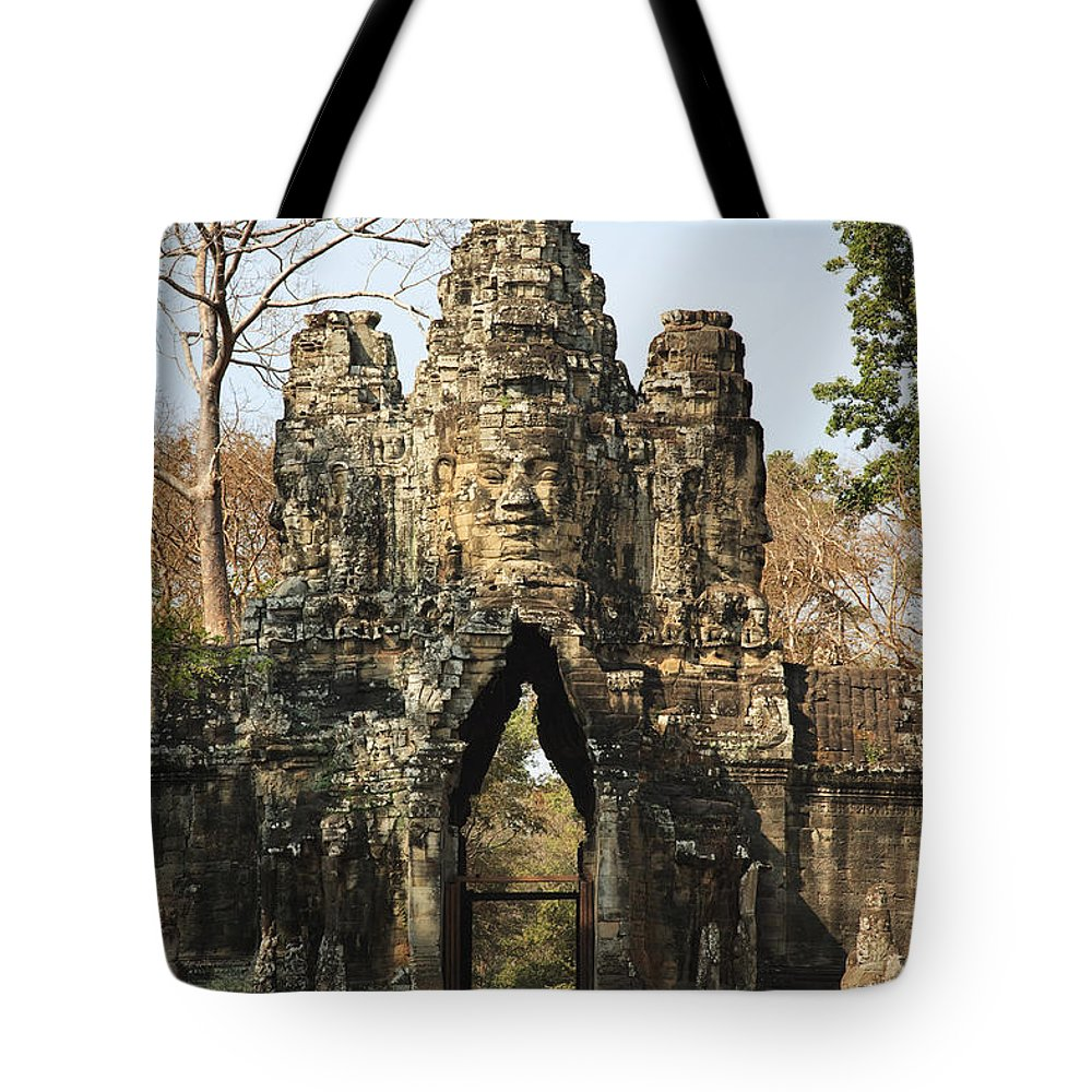 Ancient Tote Bag featuring the photograph Angkor Thom by David Davis