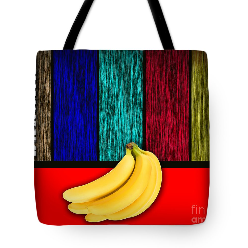 Bananas Photographs Mixed Media Tote Bag featuring the mixed media Bananas by Marvin Blaine