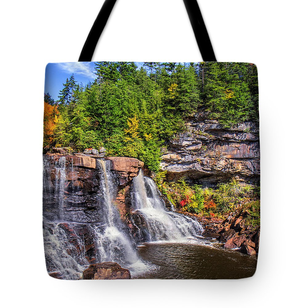 Blackwater Falls Tote Bag featuring the photograph Blackwater Falls by Mary Almond