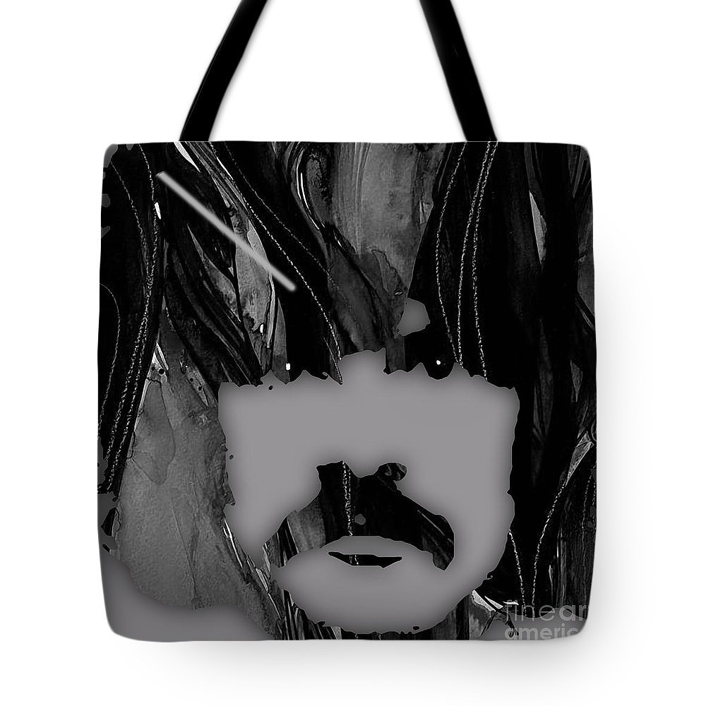 Burton Cummings Tote Bag featuring the mixed media Burton Cummings Collection by Marvin Blaine