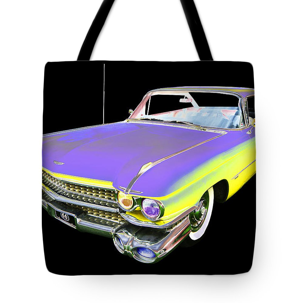 1959 Cadillac Tote Bag featuring the photograph Cadillac by Allan Price