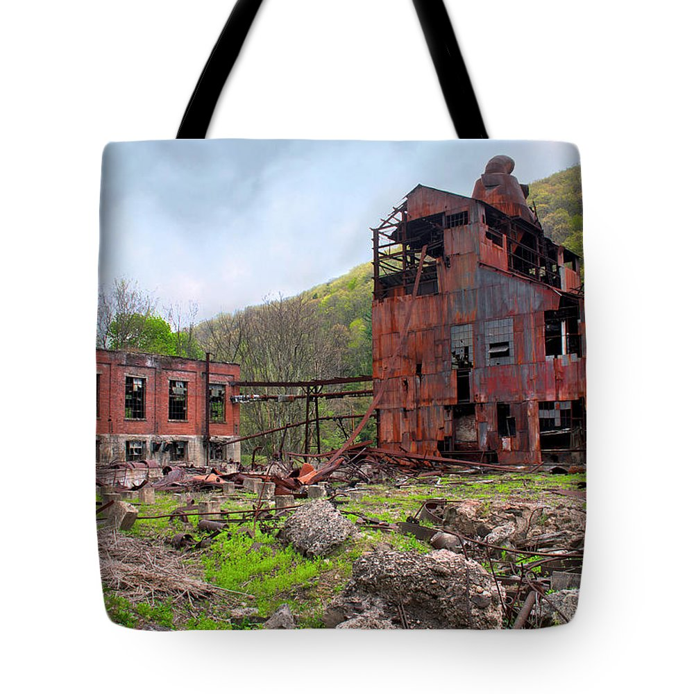 Lumber Company Tote Bag featuring the photograph Cass Scenic Railroad by Mary Almond
