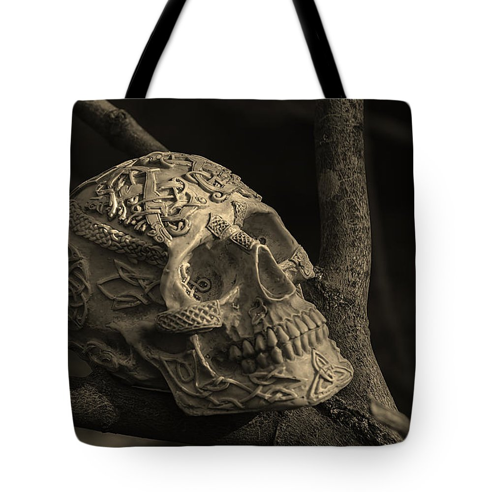 Usa Tote Bag featuring the photograph Celtic Skulls Symbolic Pathway To The Other World by LeeAnn McLaneGoetz McLaneGoetzStudioLLCcom
