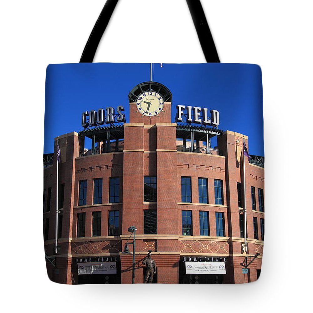 America Tote Bag featuring the photograph Coors Field - Colorado Rockies by Frank Romeo