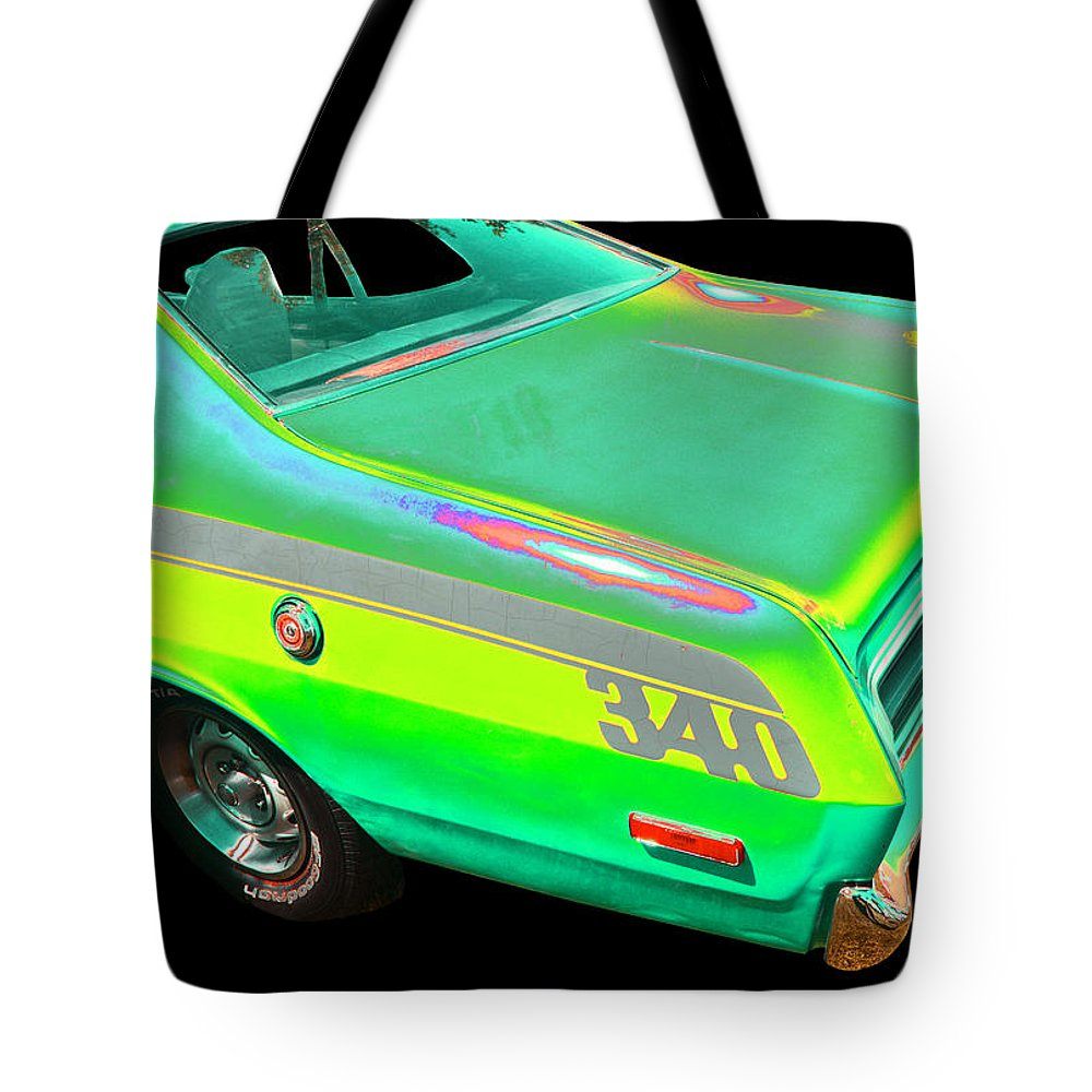 1972 Dodge Duster Tote Bag featuring the photograph Dodge by Allan Price
