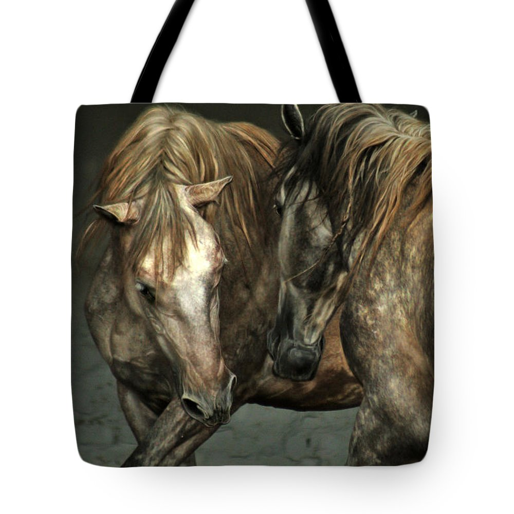 Horse Tote Bag featuring the photograph Flamenco by Angel Ciesniarska