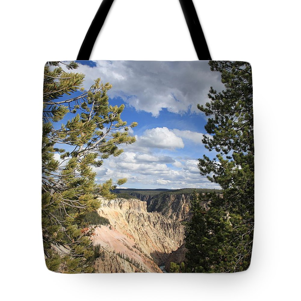 America Tote Bag featuring the photograph Grand Canyon Of Yellowstone by Frank Romeo