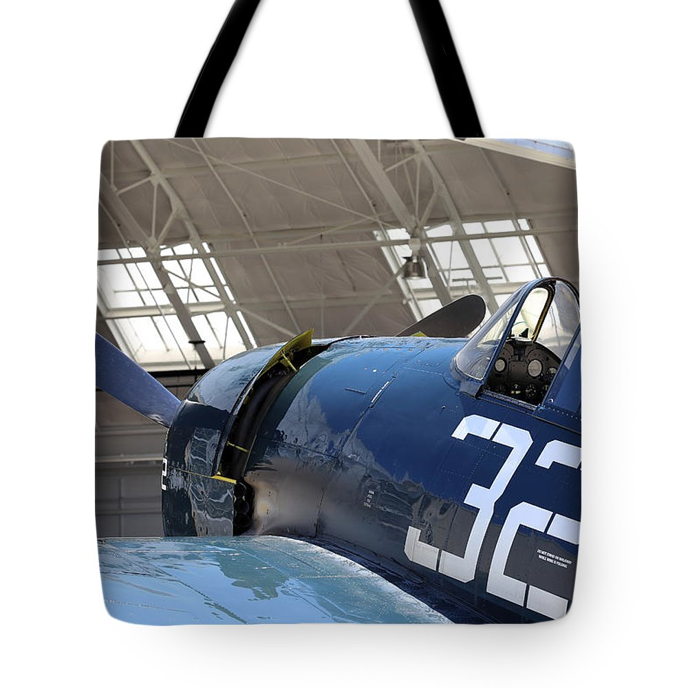 Grumman Tote Bag featuring the photograph Grumman Hellcat by Paul Fell