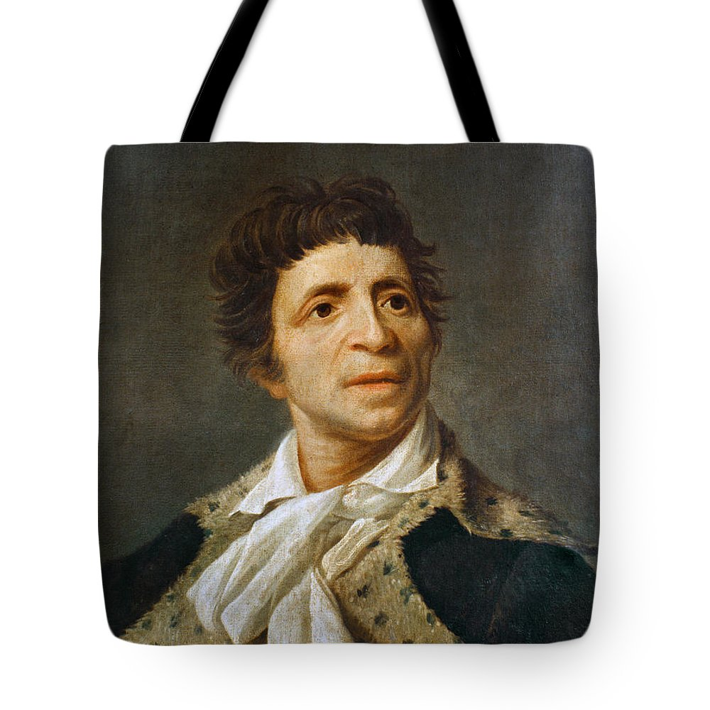 1793 Tote Bag featuring the photograph Jean-paul Marat (1743-1793) by Granger