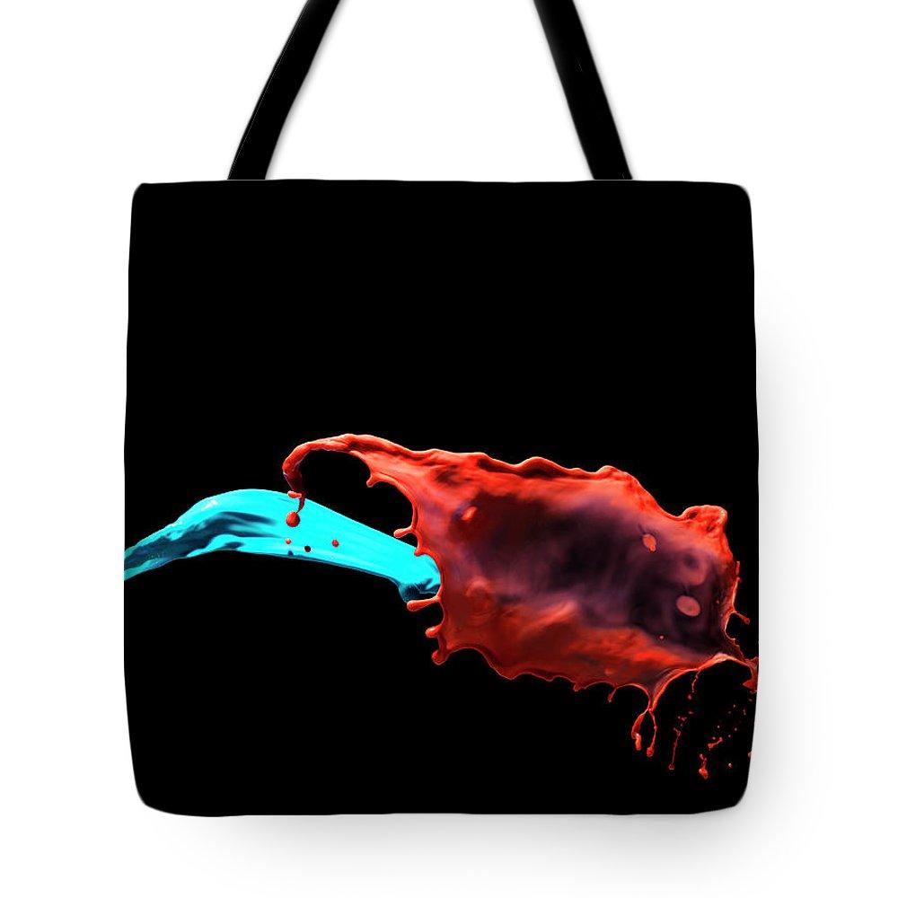 Copenhagen Tote Bag featuring the photograph Mixing Liquids by Henrik Sorensen