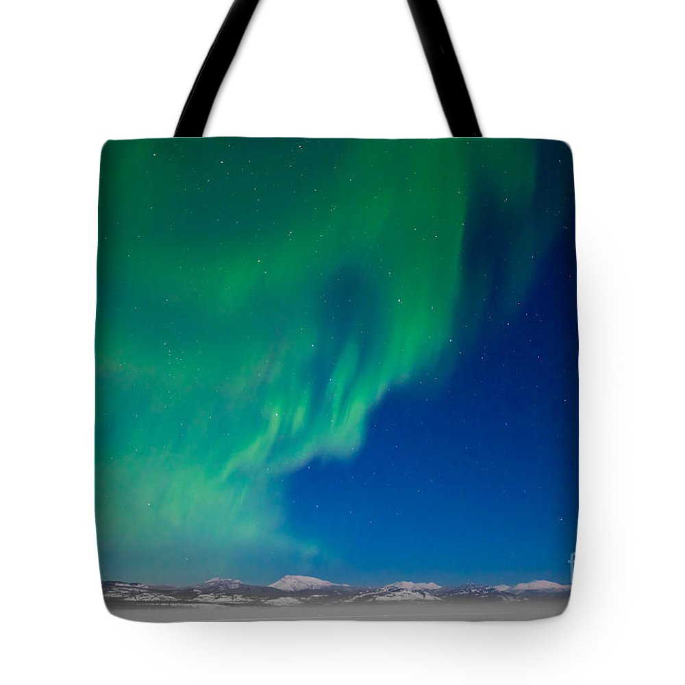 Adventure Tote Bag featuring the photograph Northern Lights - Aurora Borealis by Stephan Pietzko