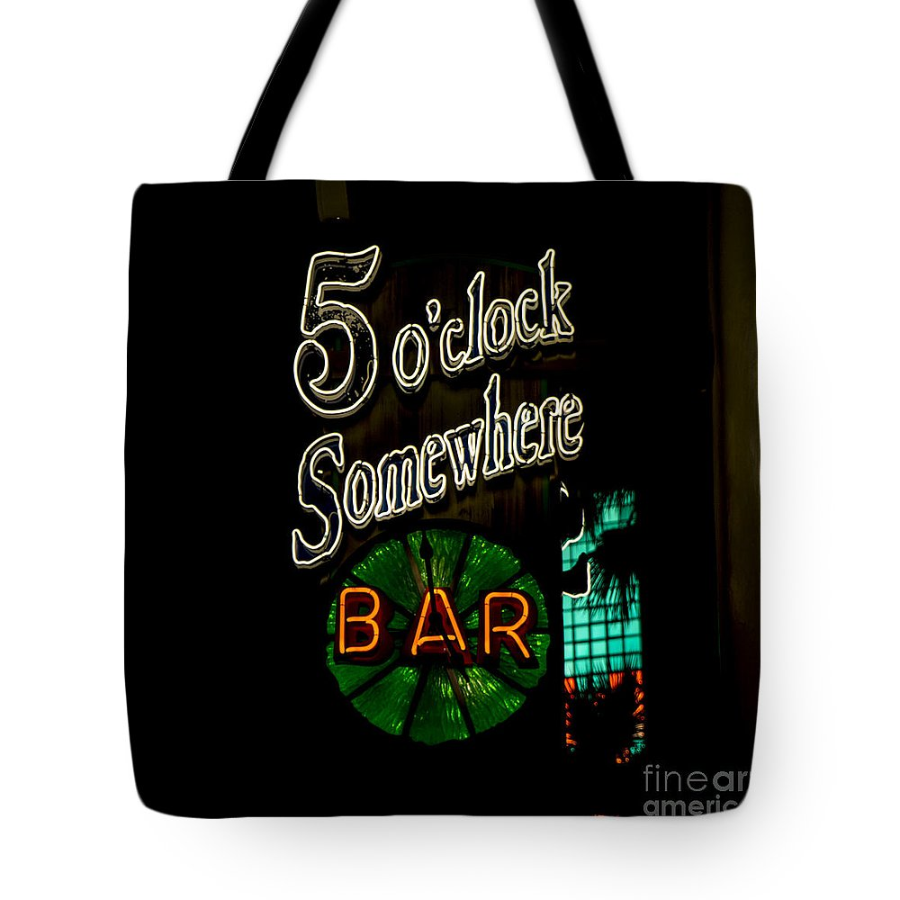 5 O'clock Somewhere Bar Tote Bag featuring the photograph 5 O'clock Somewhere Bar by Nina Prommer