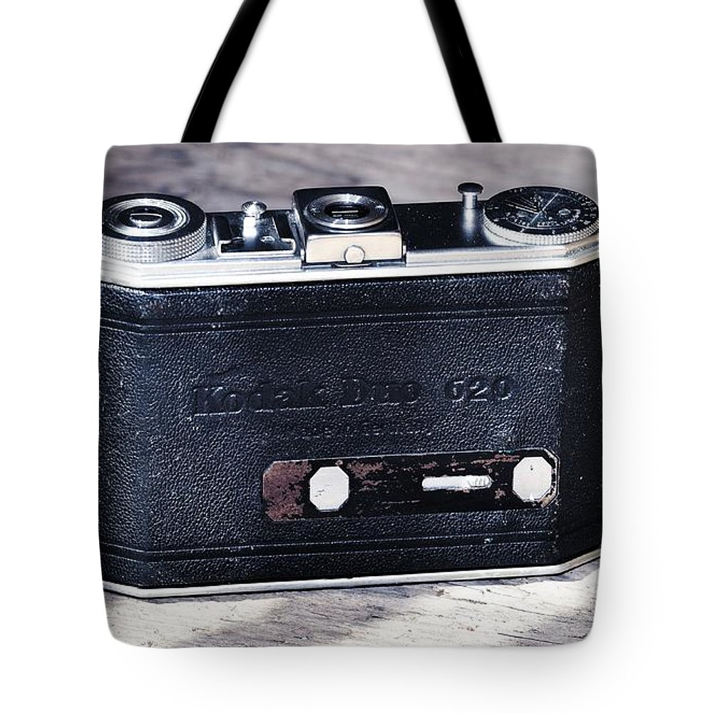 Antique Tote Bag featuring the photograph Old Camera by FL collection