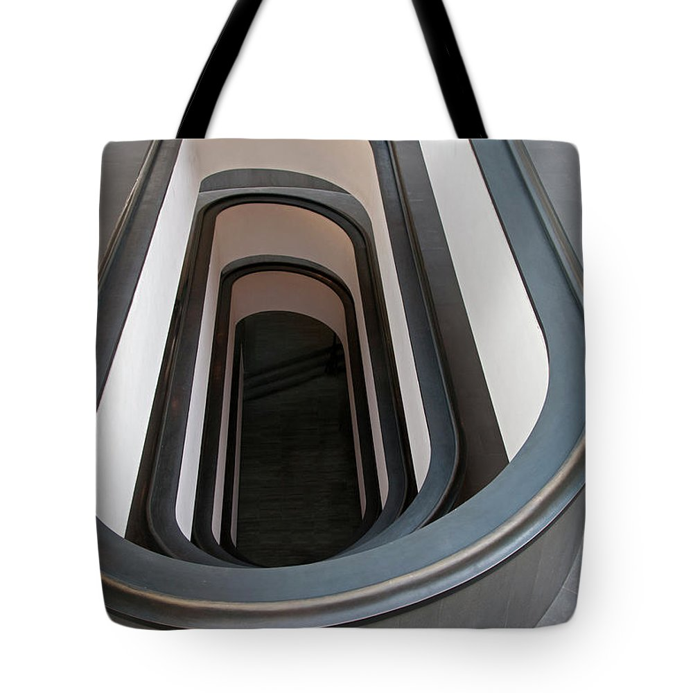 Italian Culture Tote Bag featuring the photograph Spiral Staircase At The Vatican by Mitch Diamond
