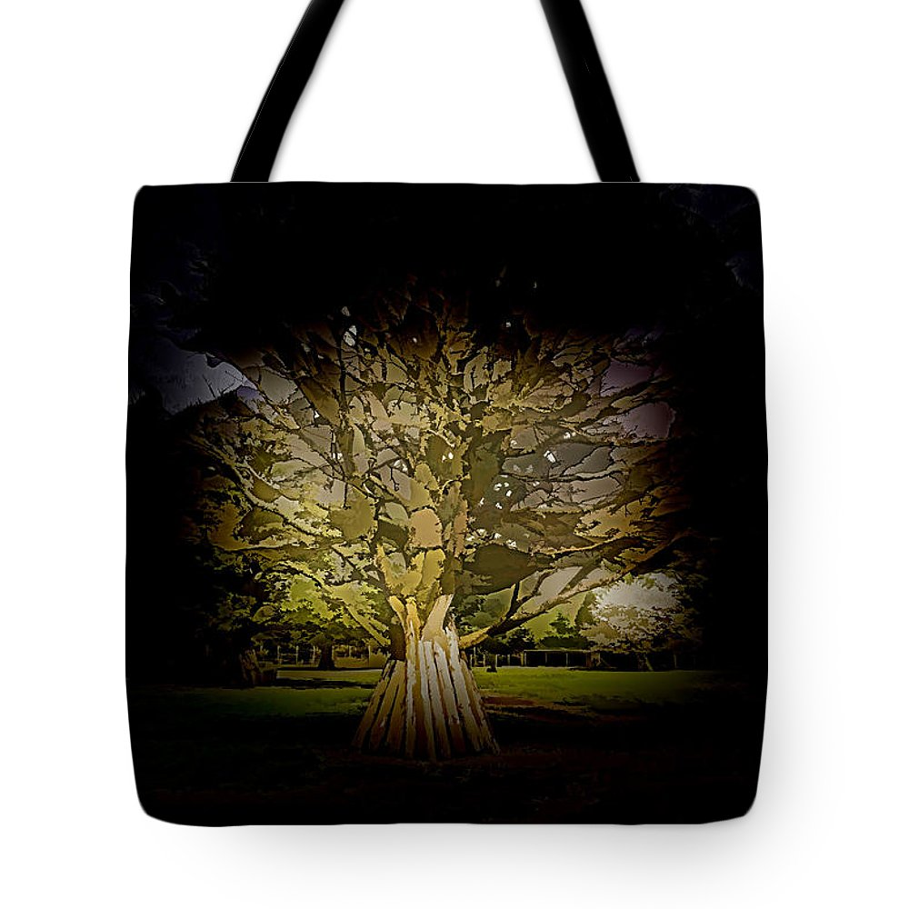 Adventure Park In Scotland Tote Bag featuring the photograph Vehicles Moving Through The American Bison Area by Ashish Agarwal