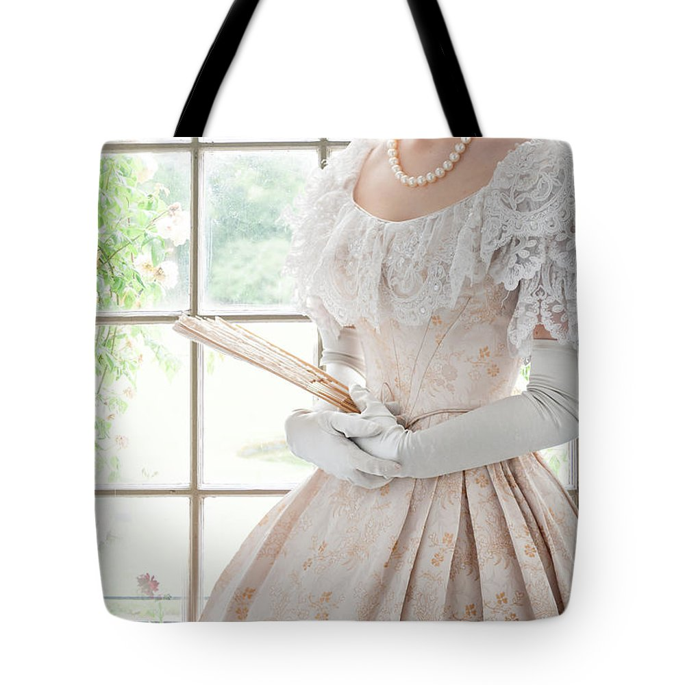Victorian Tote Bag featuring the photograph Victorian Woman by Lee Avison