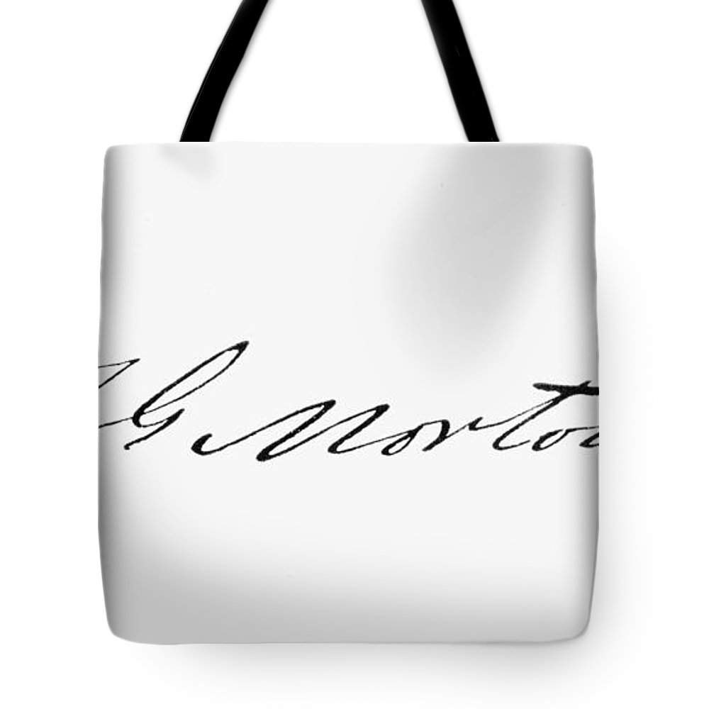19th Century Tote Bag featuring the photograph William T.g. Morton by Granger