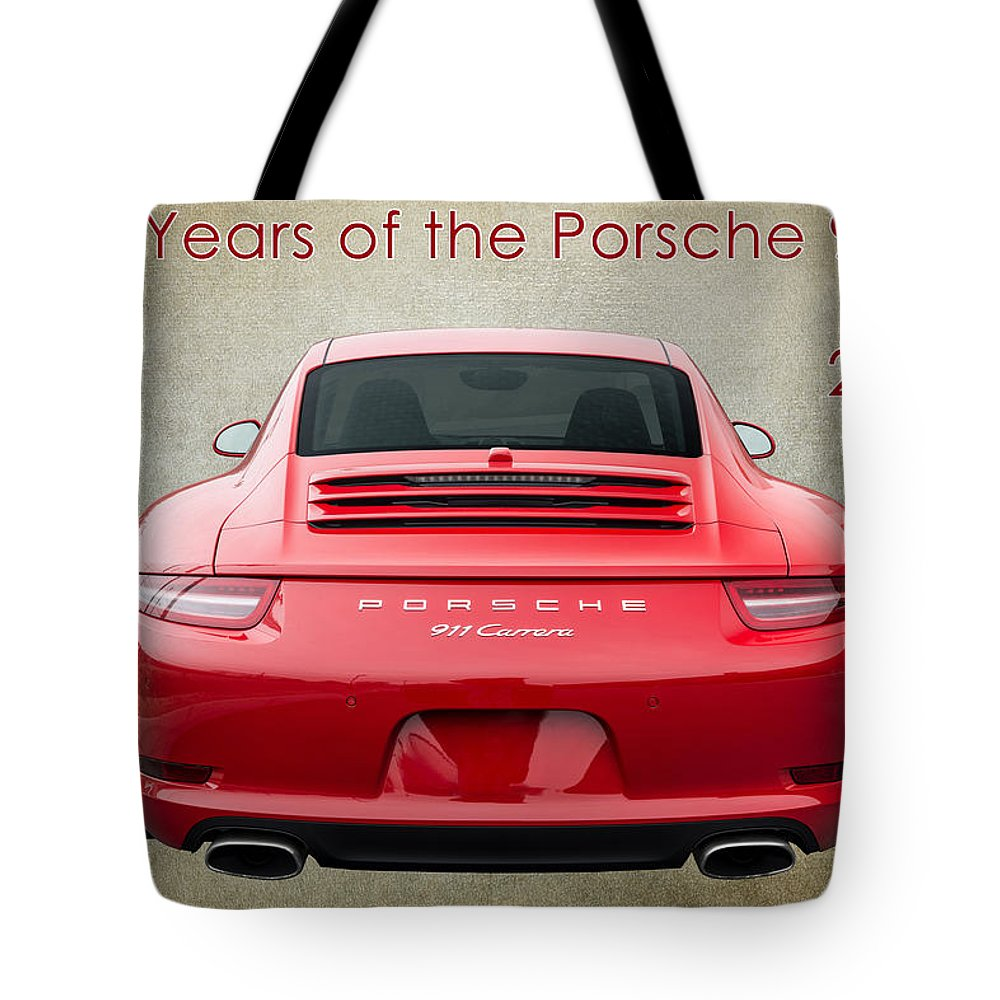 Porsche Tote Bag featuring the photograph 50 Years Of The Porsche 911 E182 by Wendell Franks