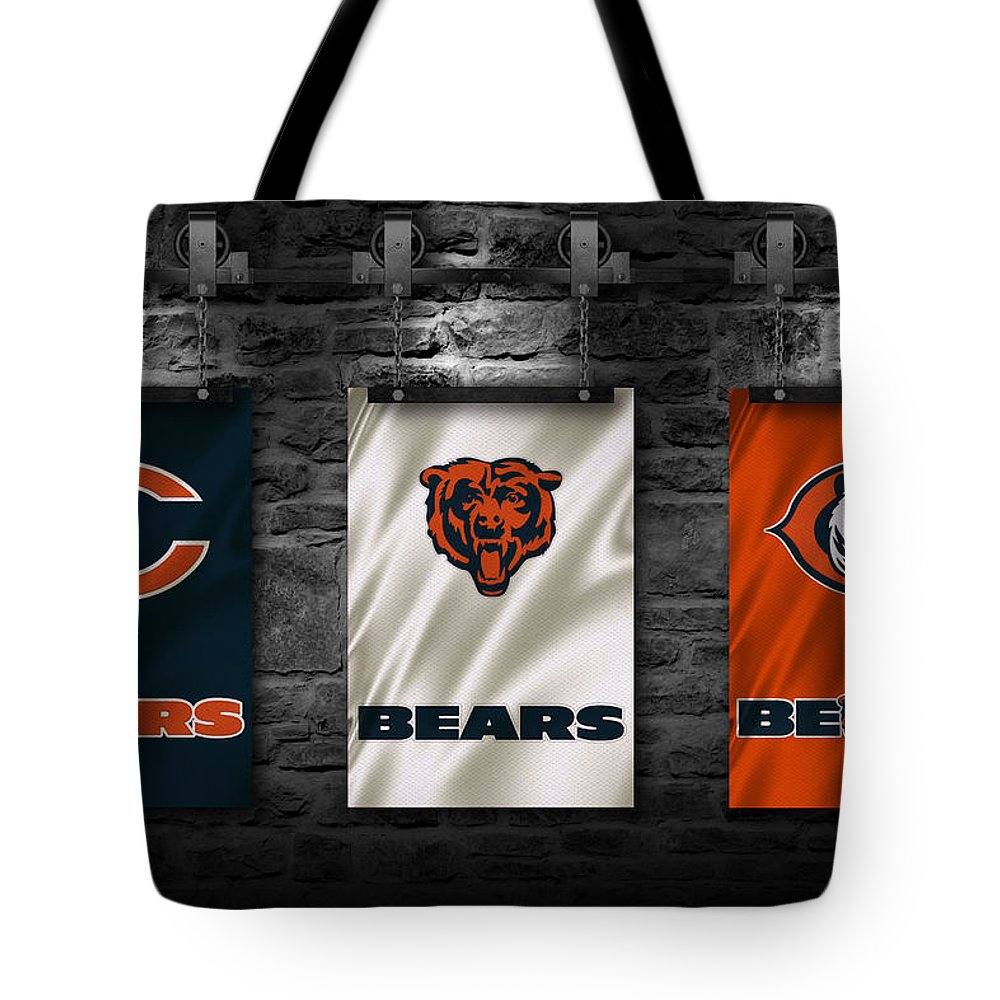Bears Tote Bag featuring the photograph Chicago Bears by Joe Hamilton