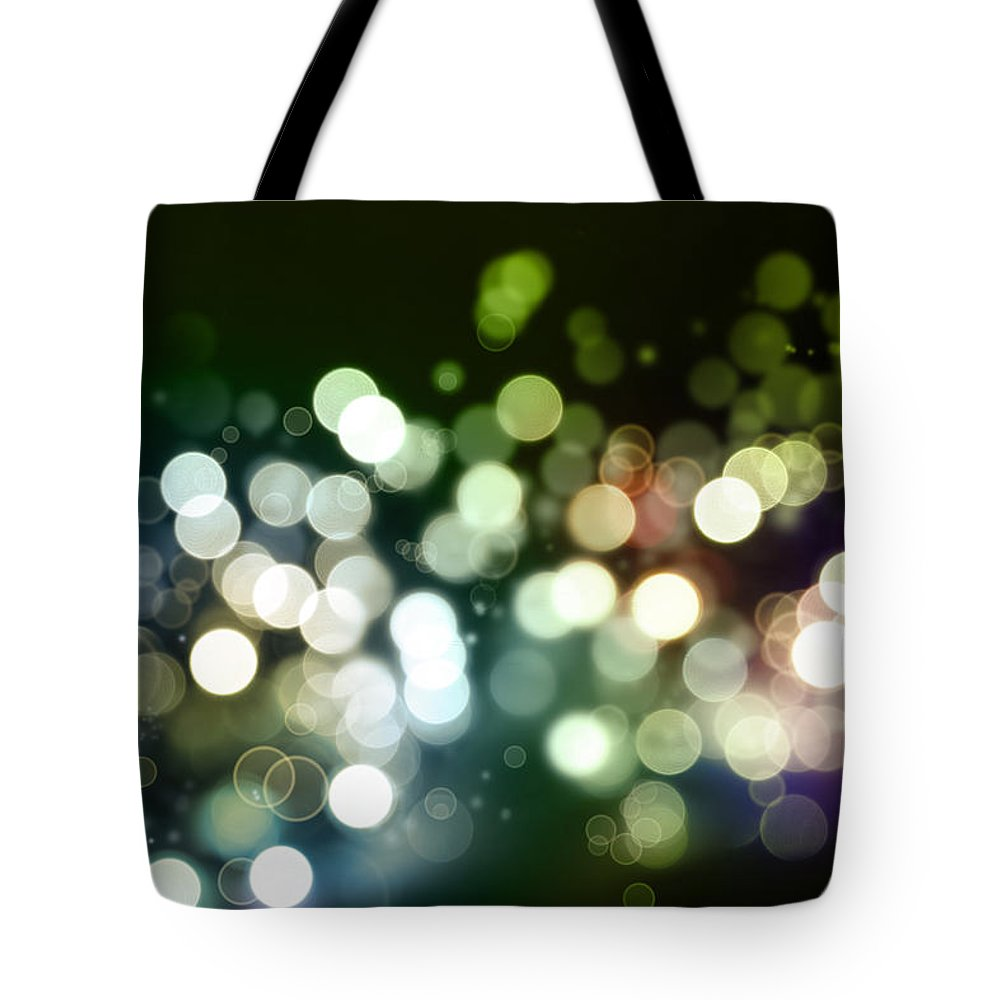 Green Tote Bag featuring the photograph Abstract Background by Les Cunliffe