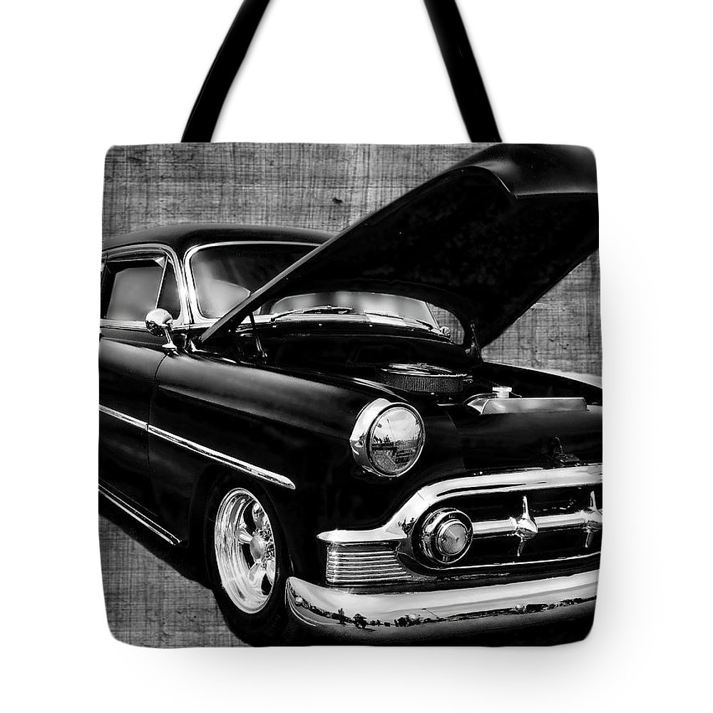 1953 Tote Bag featuring the photograph '53 Chevy by Victor Montgomery