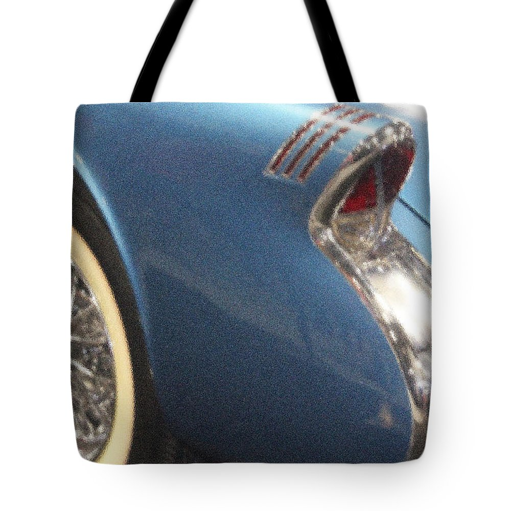 Car Tote Bag featuring the photograph 55 Skylark by Carolyn Stagger Cokley