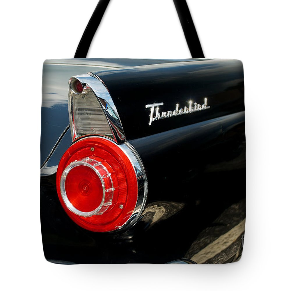 Car Tote Bag featuring the photograph 56 Ford Thunderbird by Mark Dodd