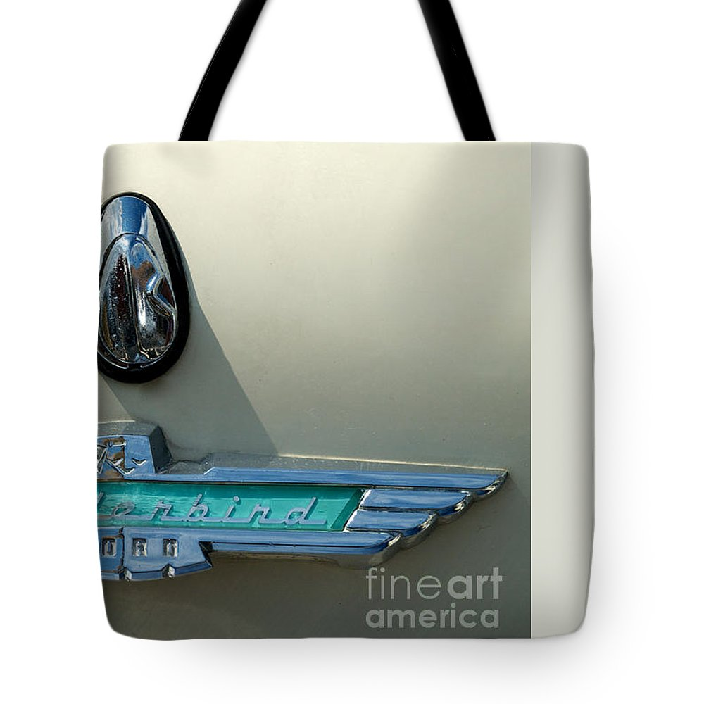 Car Tote Bag featuring the photograph 57 Ford Thunderbird by Mark Dodd