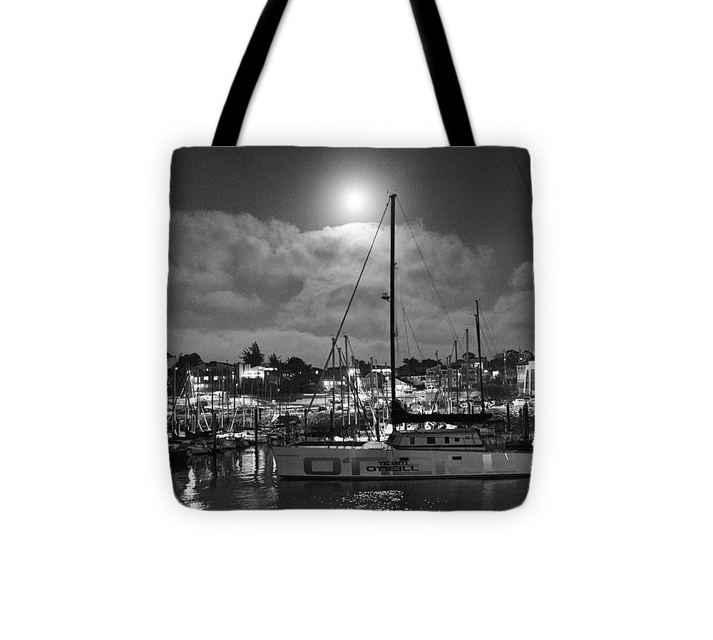 Print Tote Bag featuring the photograph 570 Bw The Sea Odessy                   In Monochome 2 by Chris Berry