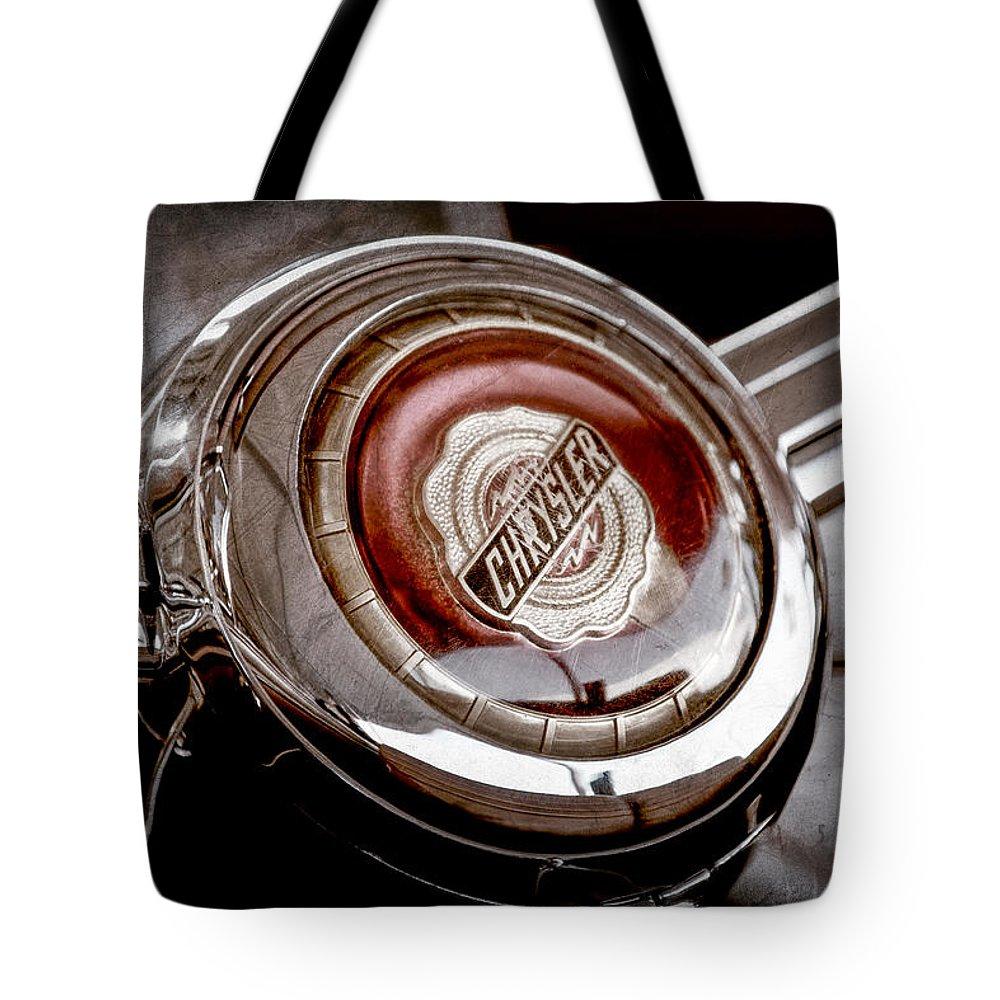 Chrysler Emblem Tote Bags Fine Art America 1949 Crown Imperial
