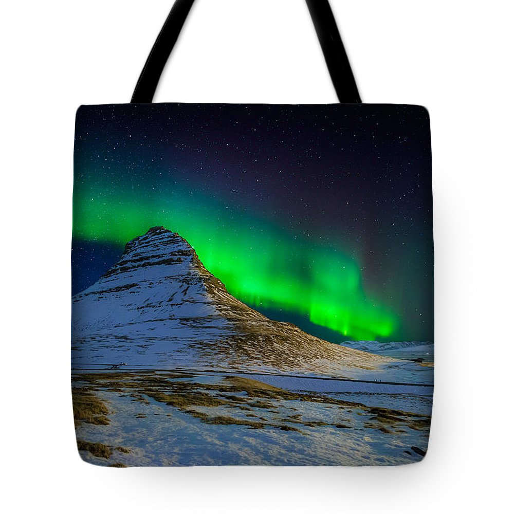 Photography Tote Bag featuring the photograph Aurora Borealis Or Northern Lights by Panoramic Images