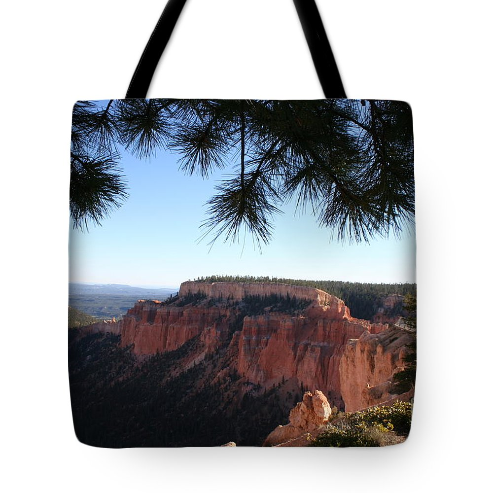 Canyon Tote Bag featuring the photograph Bryce Canyon Overlook by Christiane Schulze Art And Photography