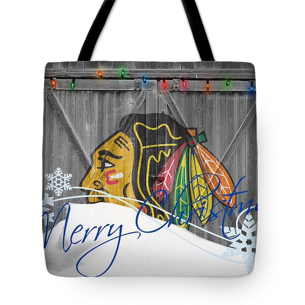 Blackhawks Tote Bag featuring the photograph Chicago Blackhawks by Joe Hamilton