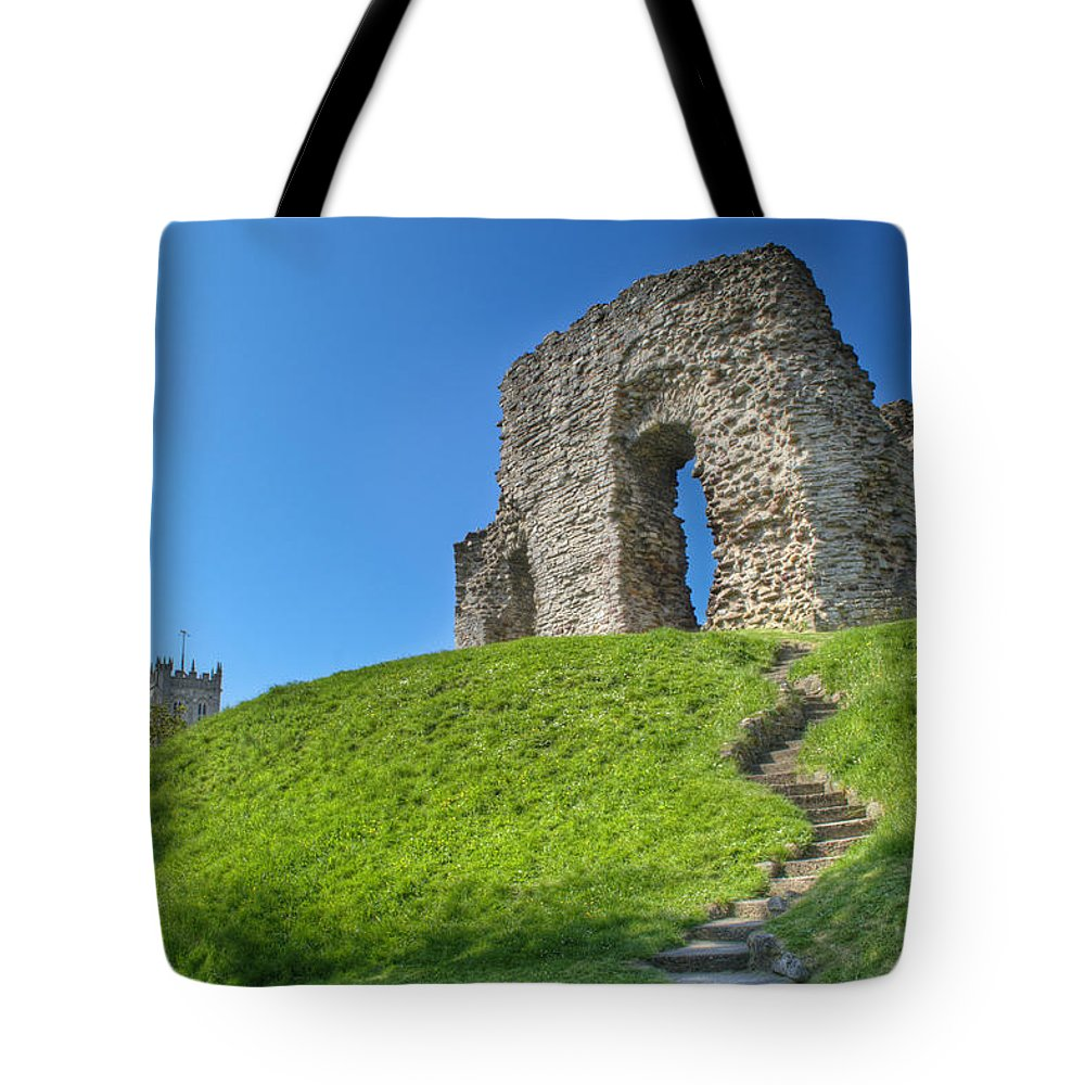 Christcurch Castle Tote Bag featuring the photograph Christchurch Castle by Chris Day