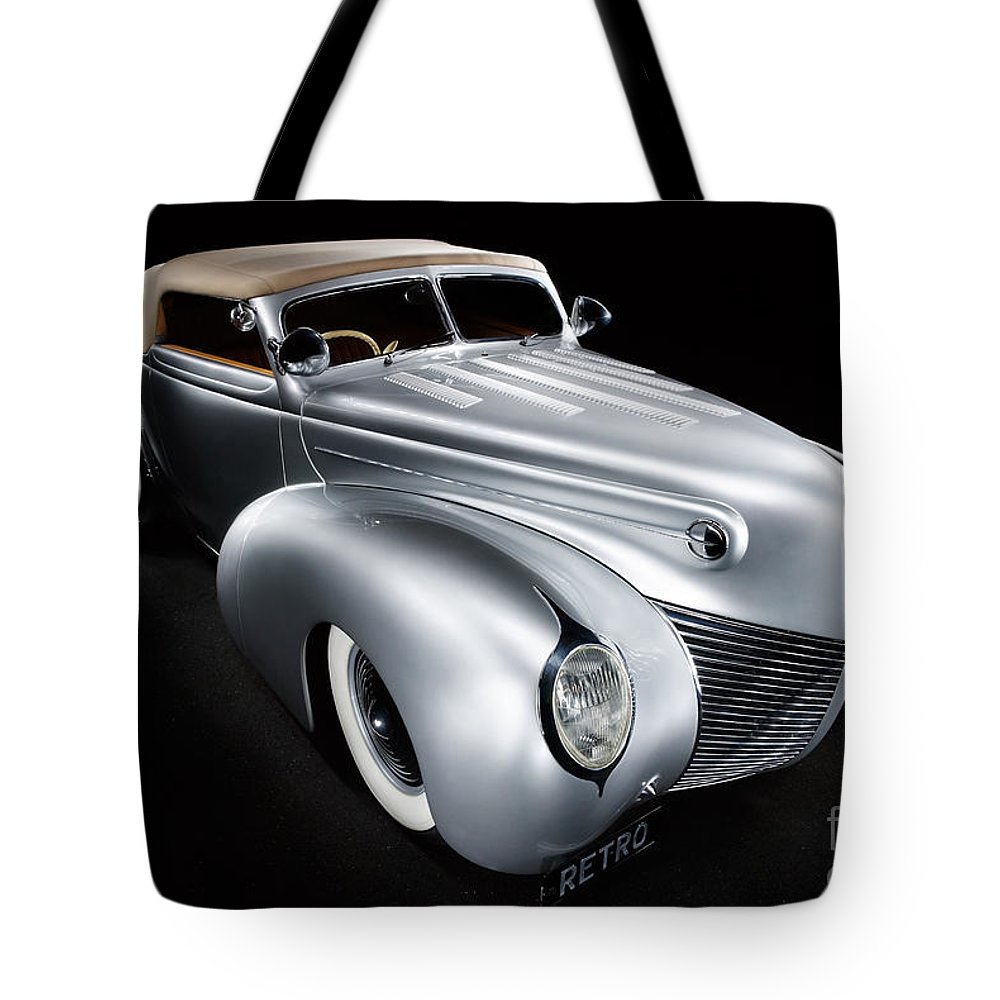 Silver Tote Bag featuring the photograph Custom Ford Coupe by Frank Kletschkus
