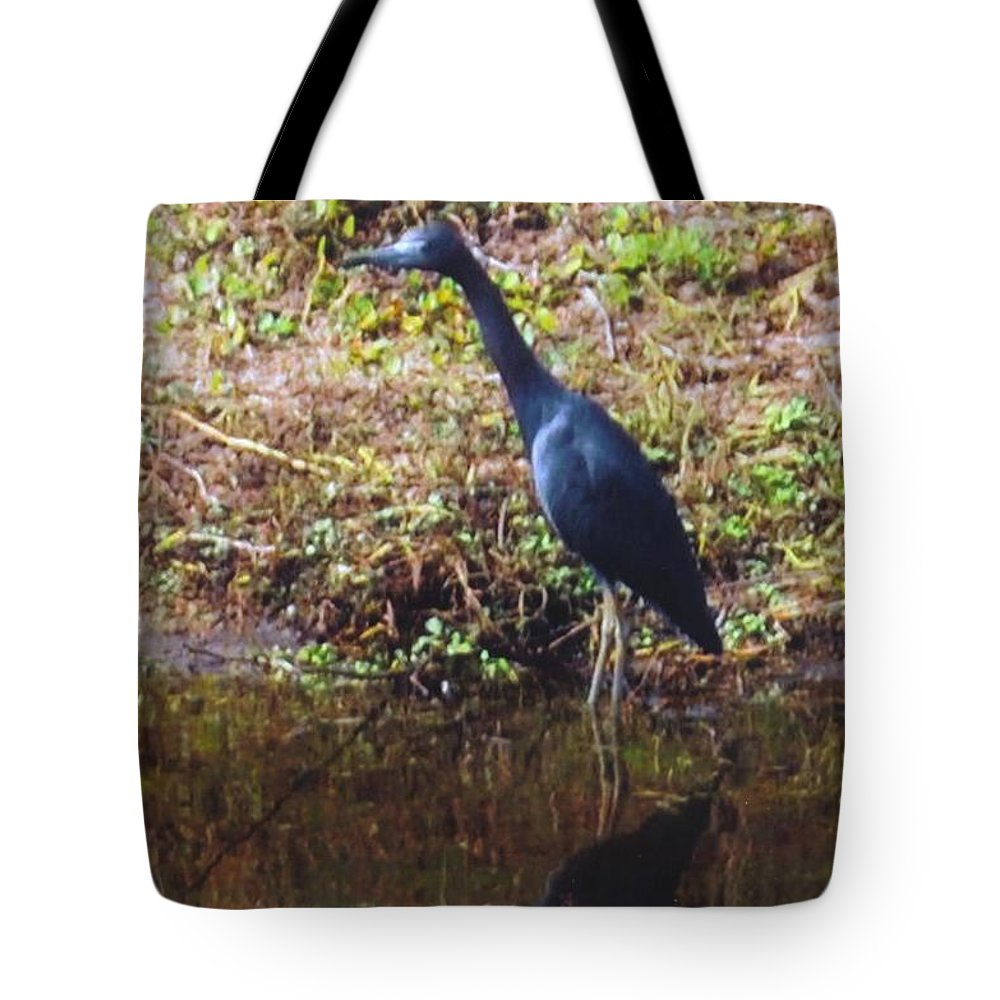 Fishing The Ditch Tote Bag featuring the photograph Egret by Robert Floyd