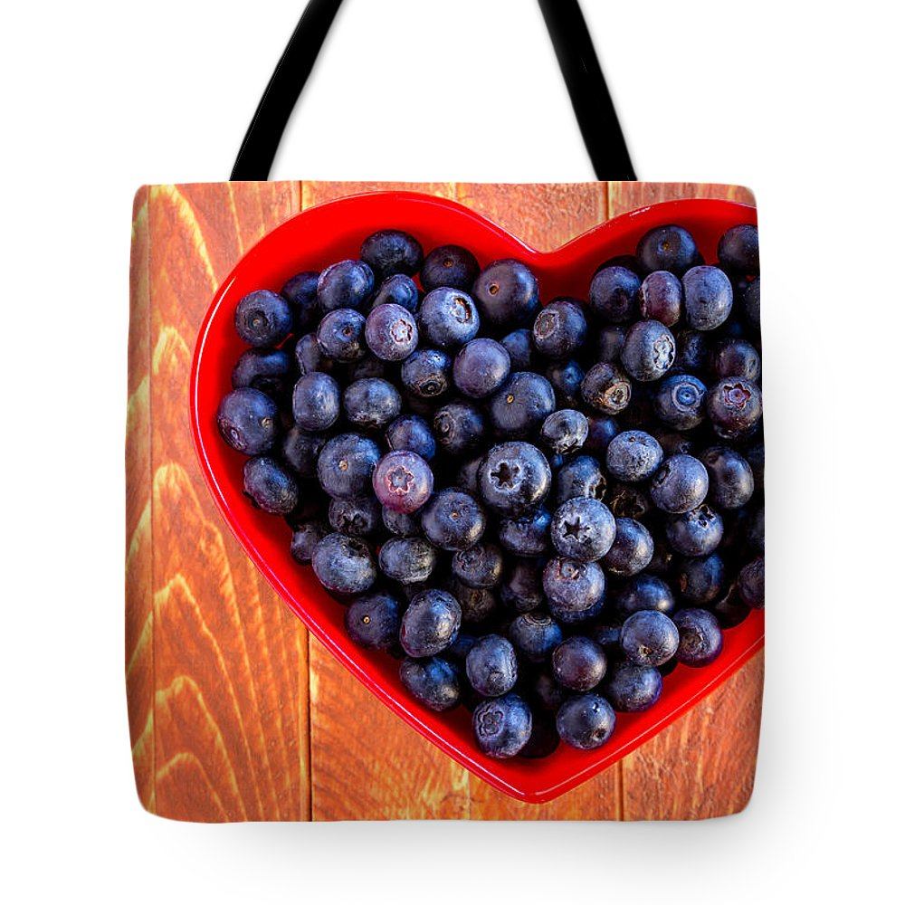 Agriculture Tote Bag featuring the photograph Fresh Picked Organic Blueberries by Teri Virbickis