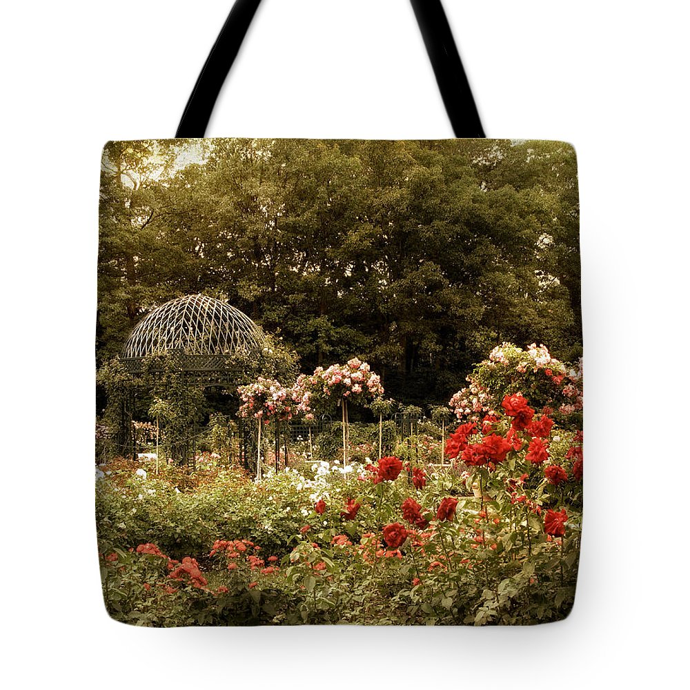 Garden Tote Bag featuring the photograph Garden Gazebo by Jessica Jenney