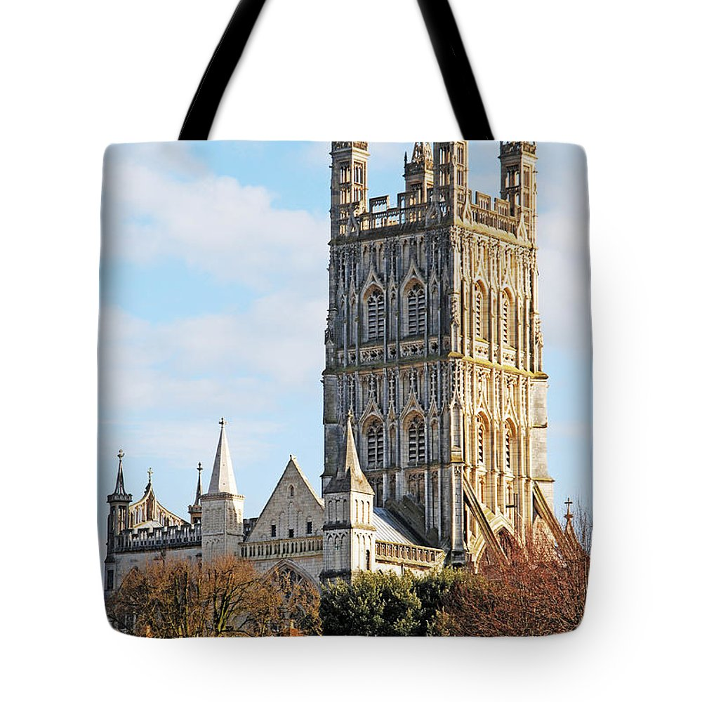 Cathedral Tote Bag featuring the photograph Gloucester Cathedral by Luis Alvarenga