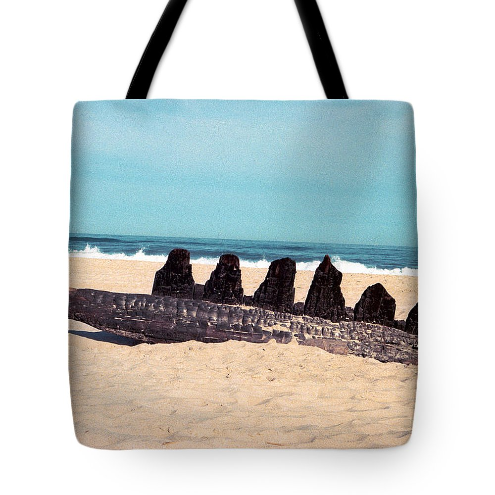 Beach Tote Bag featuring the photograph 6 Nuns by Valerie Brown