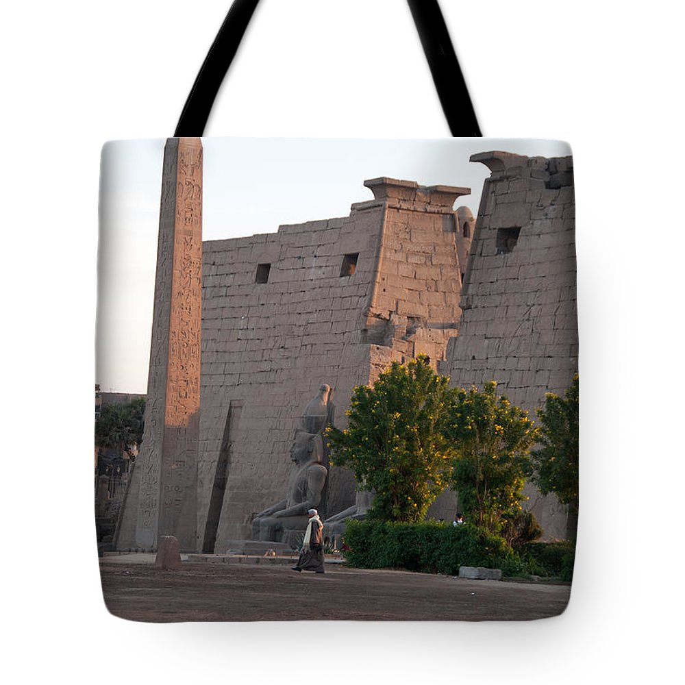 Egypt Luxor Tote Bag featuring the digital art Scenes From Luxor by Carol Ailles