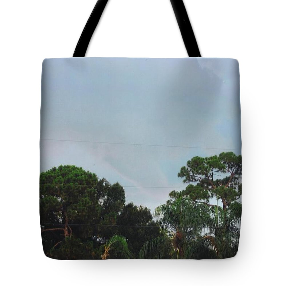 Tornado Forming Tote Bag featuring the photograph Skyscape - Tornado Forming by Robert Floyd