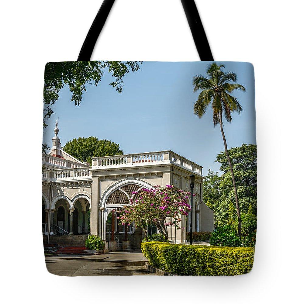 Palace Tote Bag featuring the photograph The Aga Khan Palace by Kiran Joshi