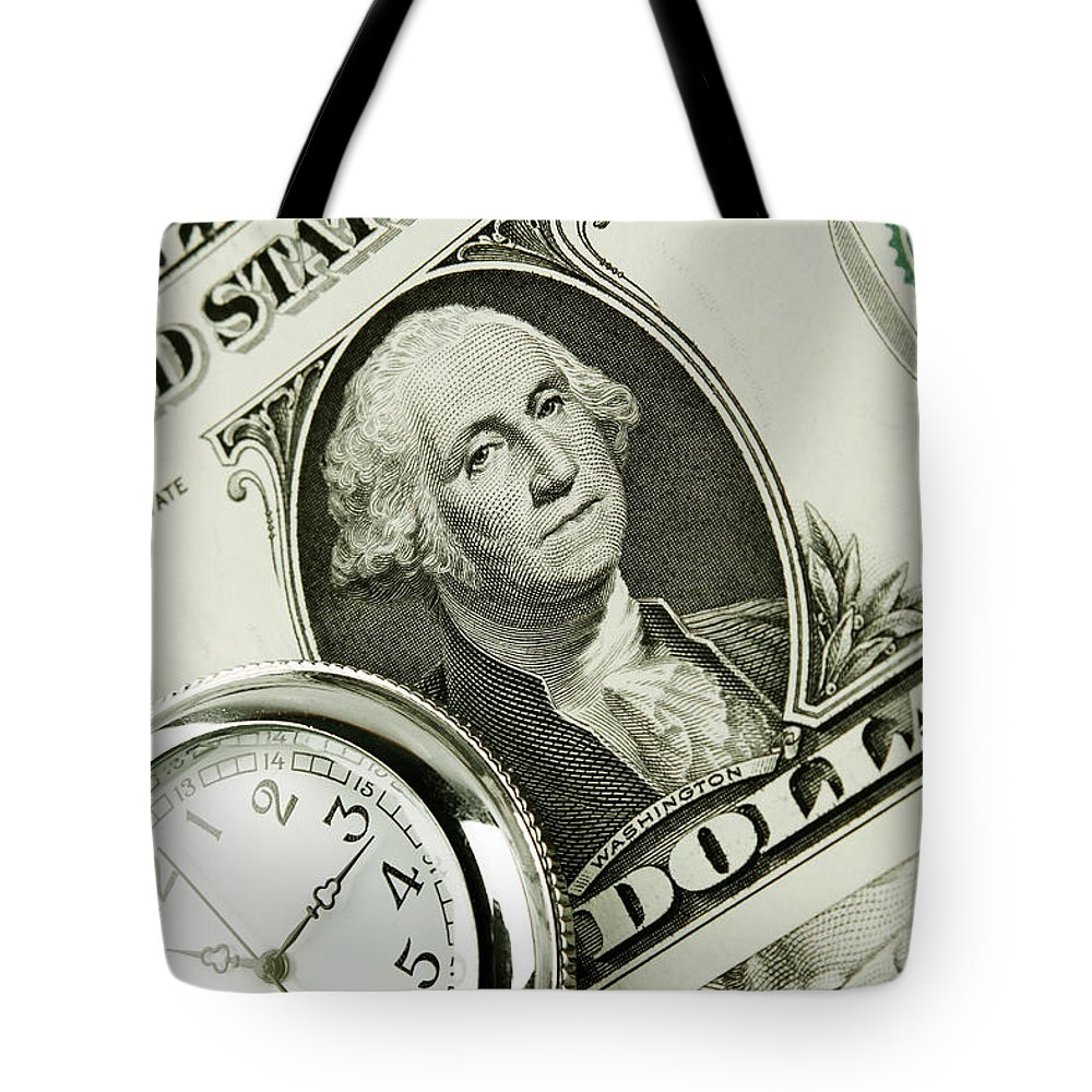 Money Tote Bag featuring the photograph Time Is Money by Les Cunliffe