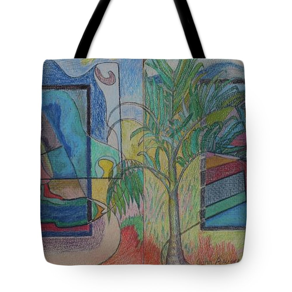 Johnpowellpaintings Tote Bag featuring the painting Trapped In Time by John Powell