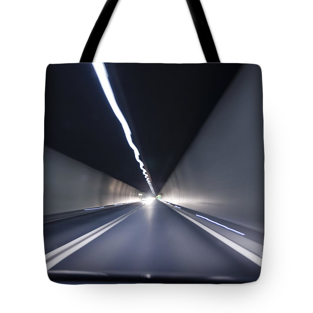 Tunnel Tote Bag featuring the photograph Tunnel by Mats Silvan