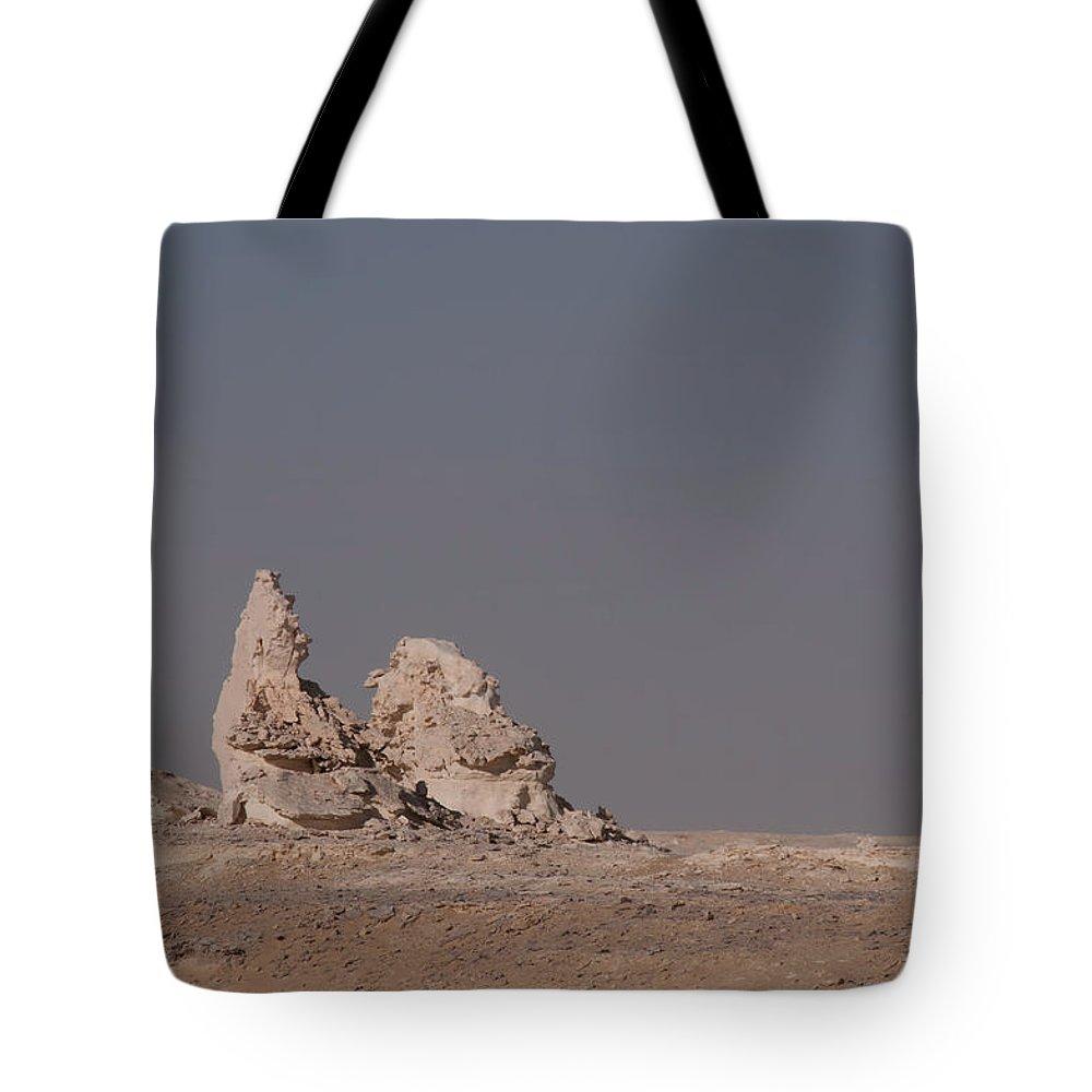 Egypt Desert Tote Bag featuring the digital art White Desert by Carol Ailles